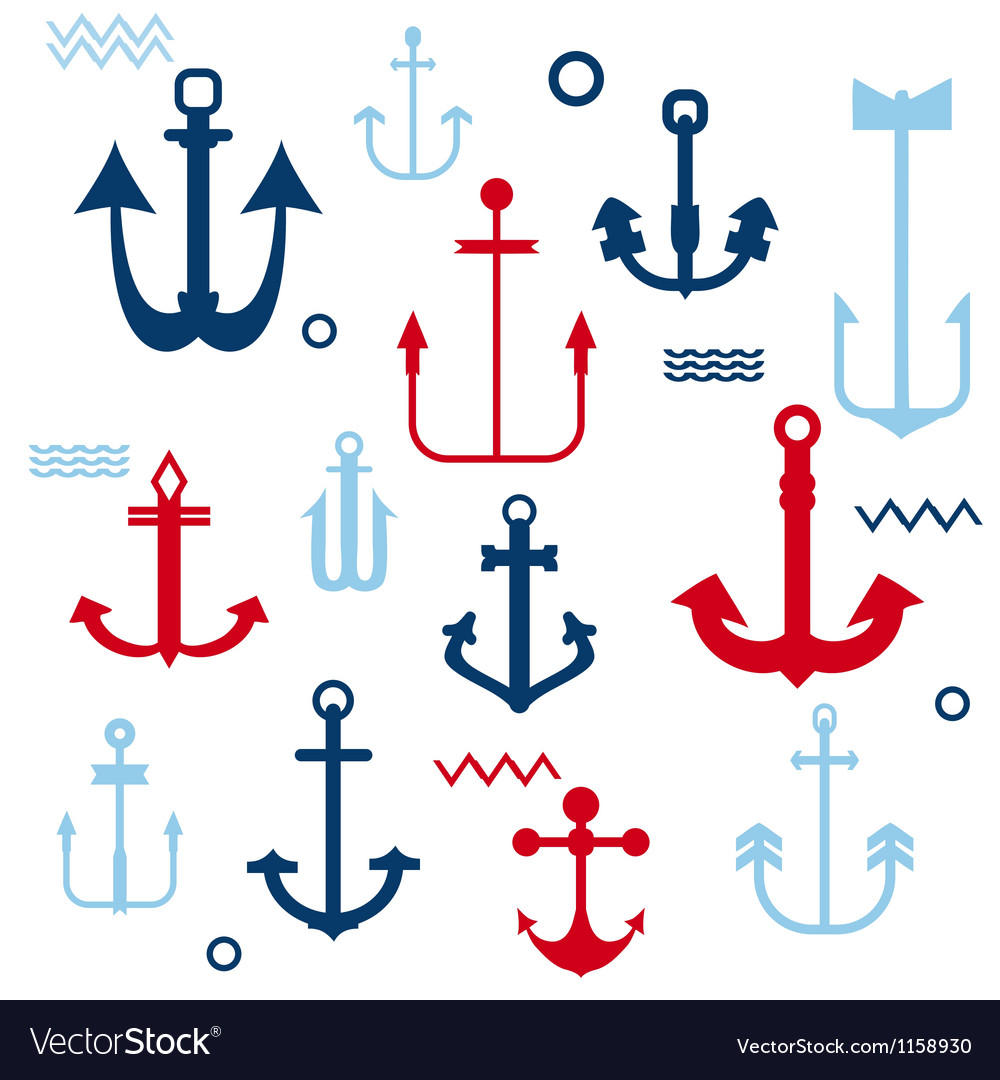 Various anchor collection vector | Price: 1 Credit (USD $1)