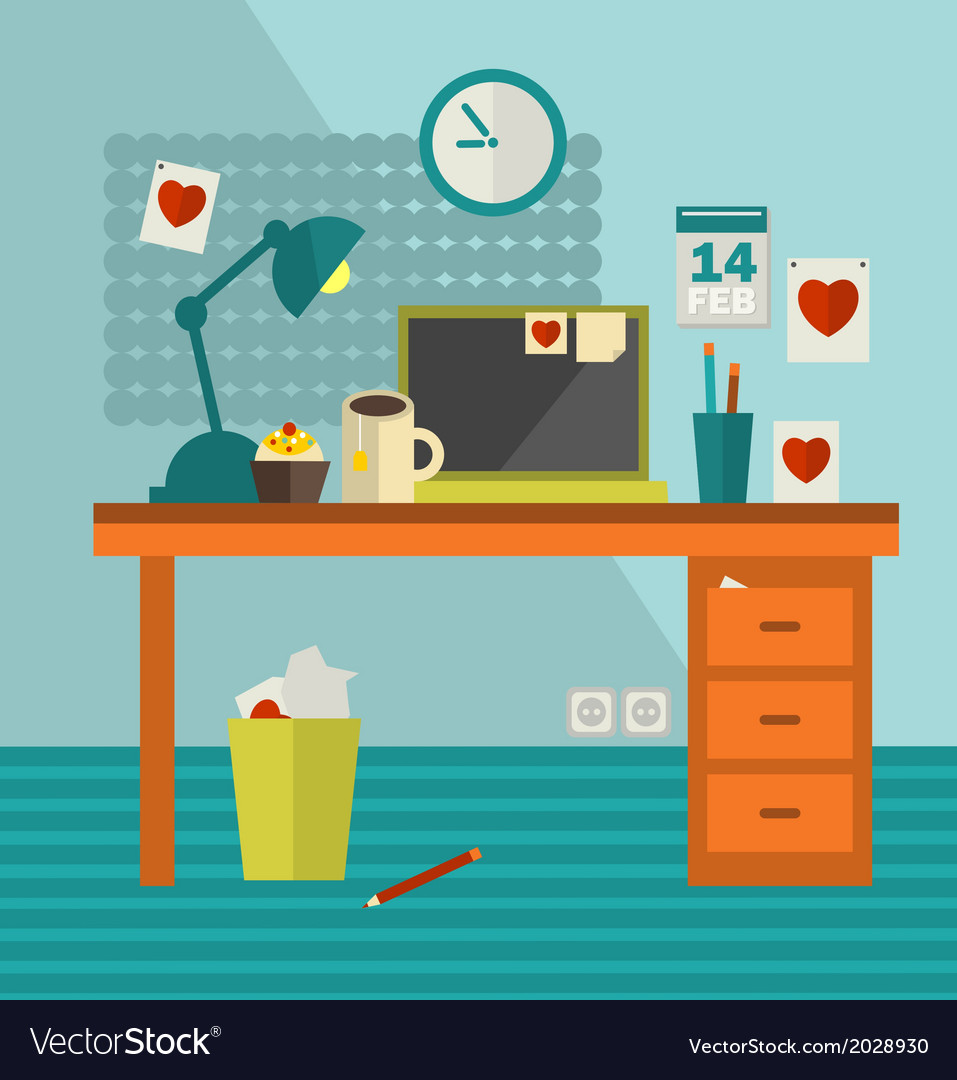 Work place of web designer on holiday vector | Price: 1 Credit (USD $1)