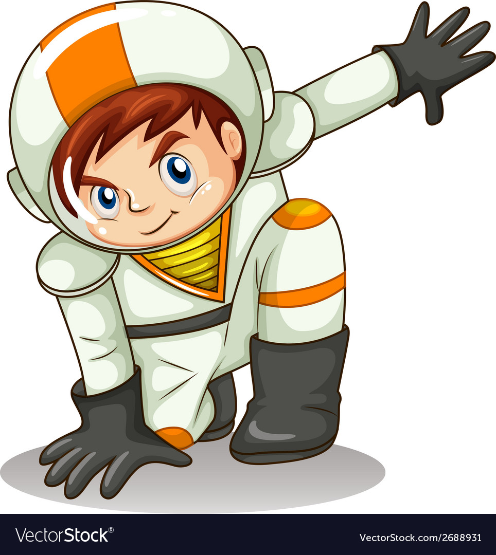 An energetic astronaut vector | Price: 3 Credit (USD $3)