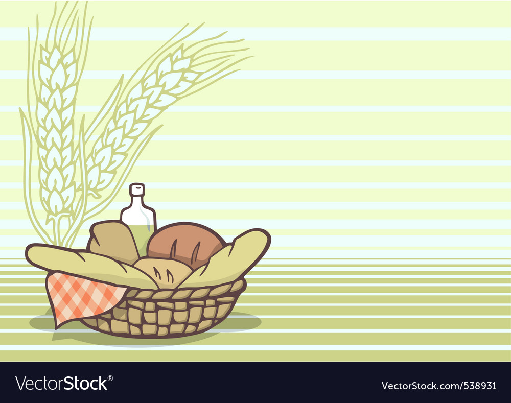 Basket of breads vector | Price: 1 Credit (USD $1)