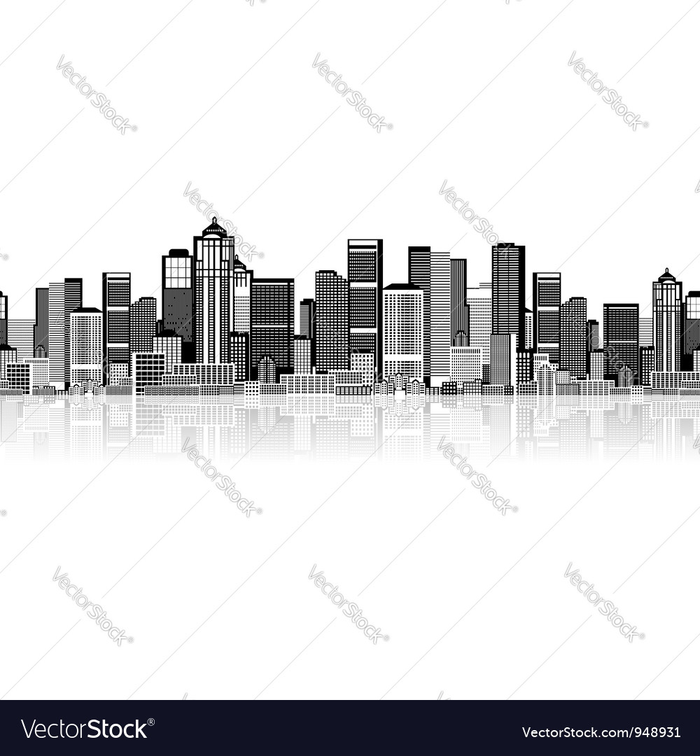 Cityscape seamless background for your design vector | Price: 1 Credit (USD $1)