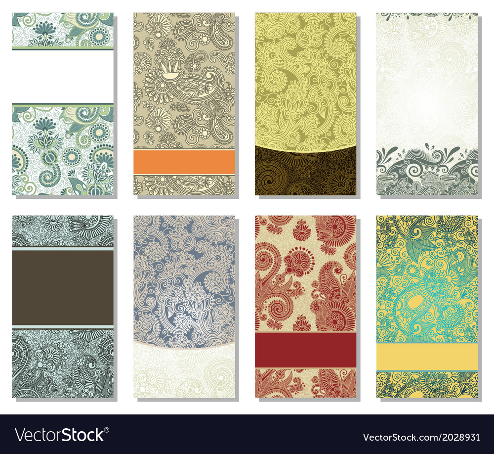 Colorful floral ornamental business card element vector   Price: 1 Credit (USD $1)