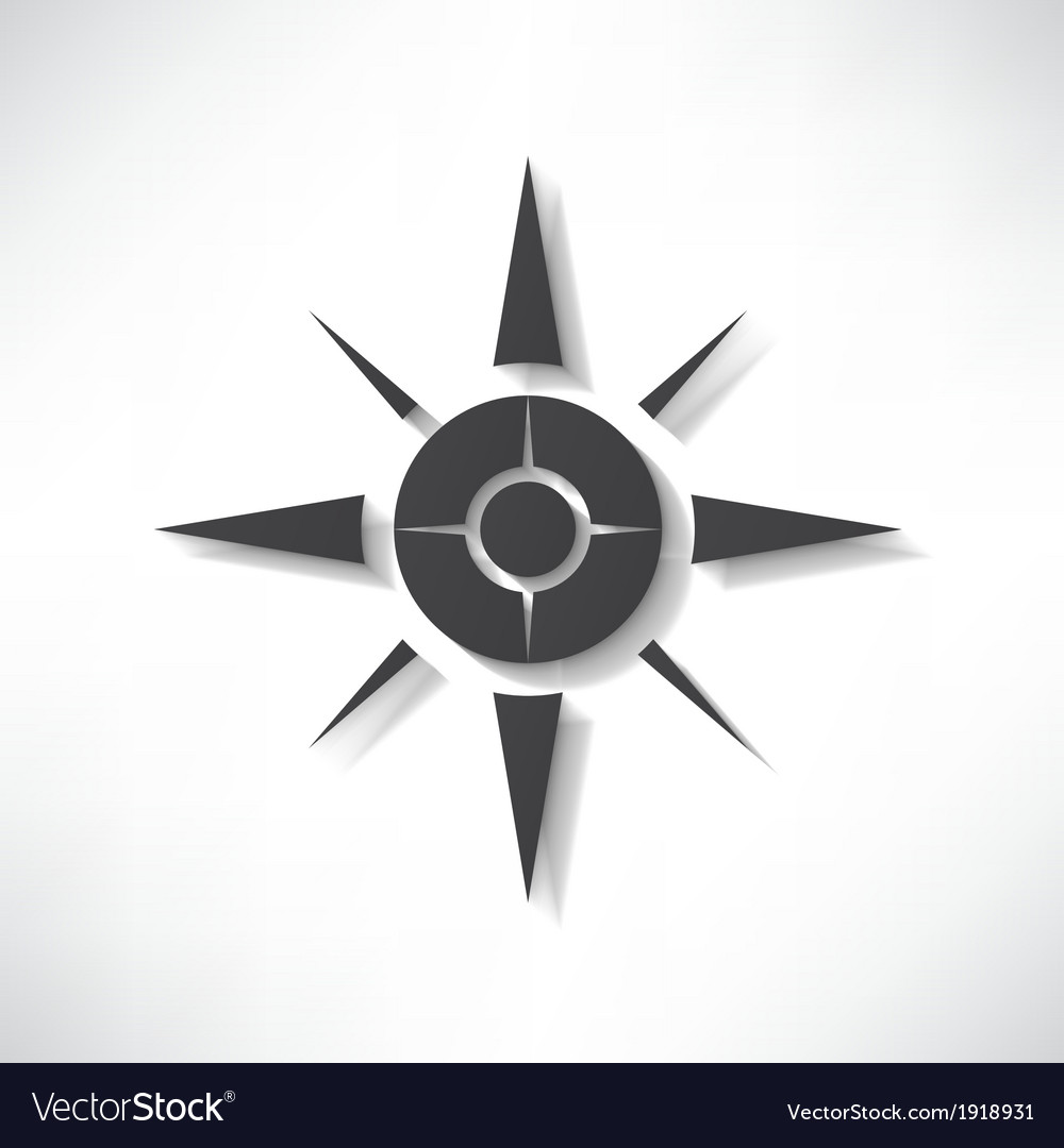 Compass icon vector | Price: 1 Credit (USD $1)