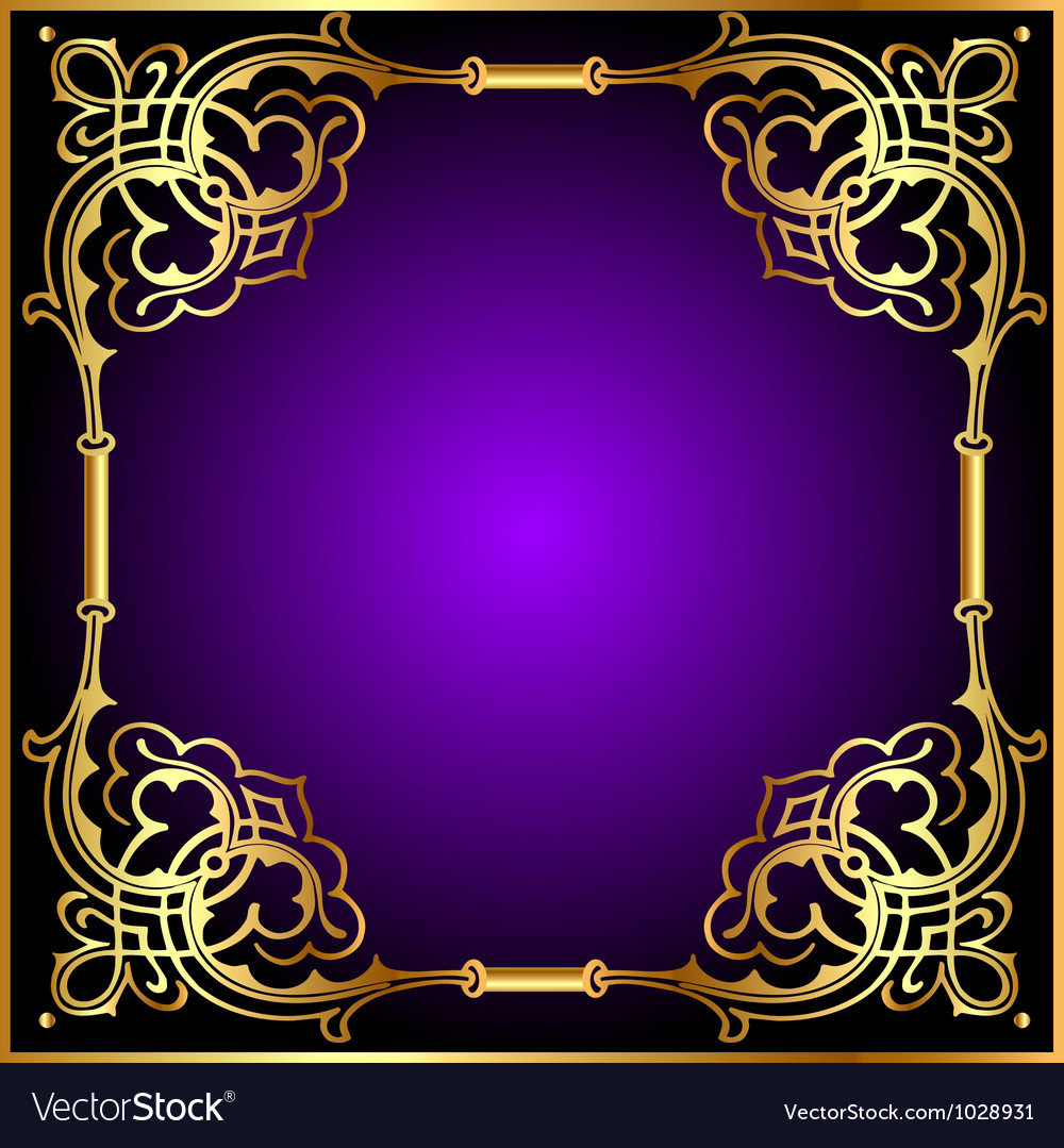 Frame with vegetable and golden pattern vector | Price: 1 Credit (USD $1)