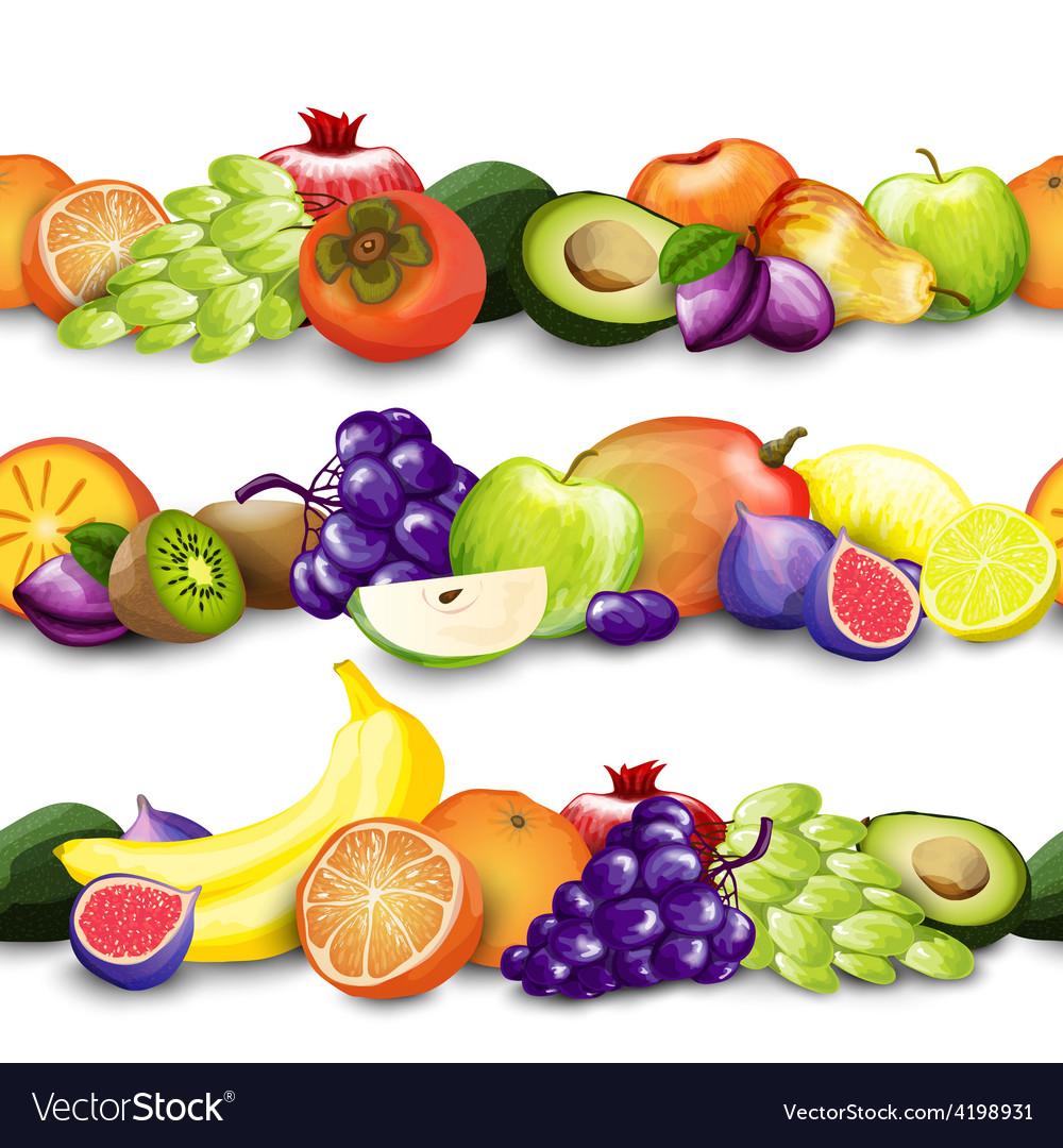 Fruits borders vector | Price: 1 Credit (USD $1)