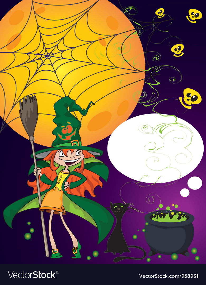 Halloween little witch vector | Price: 3 Credit (USD $3)