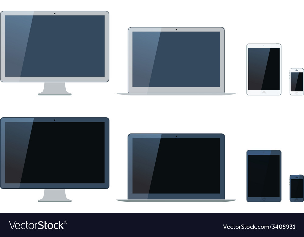 Laptop tablet computer monitor and mobi vector   Price: 1 Credit (USD $1)