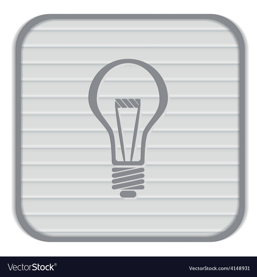 Lightbulb character ideas incandescent lamp icon vector | Price: 1 Credit (USD $1)