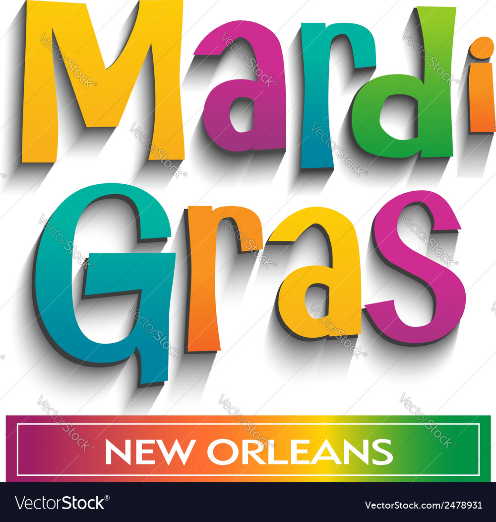 Mardi gras card sign vector | Price: 1 Credit (USD $1)