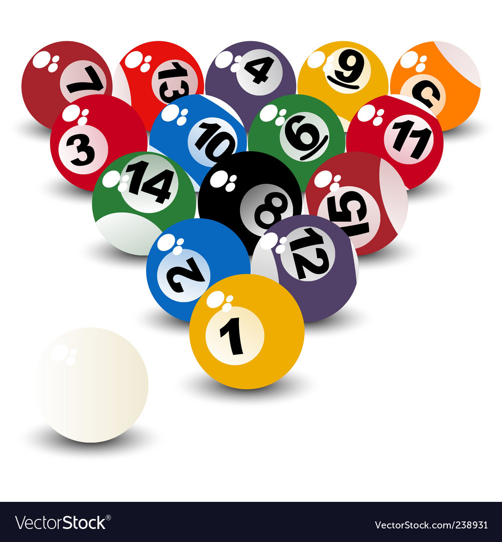 Pool balls vector | Price: 1 Credit (USD $1)