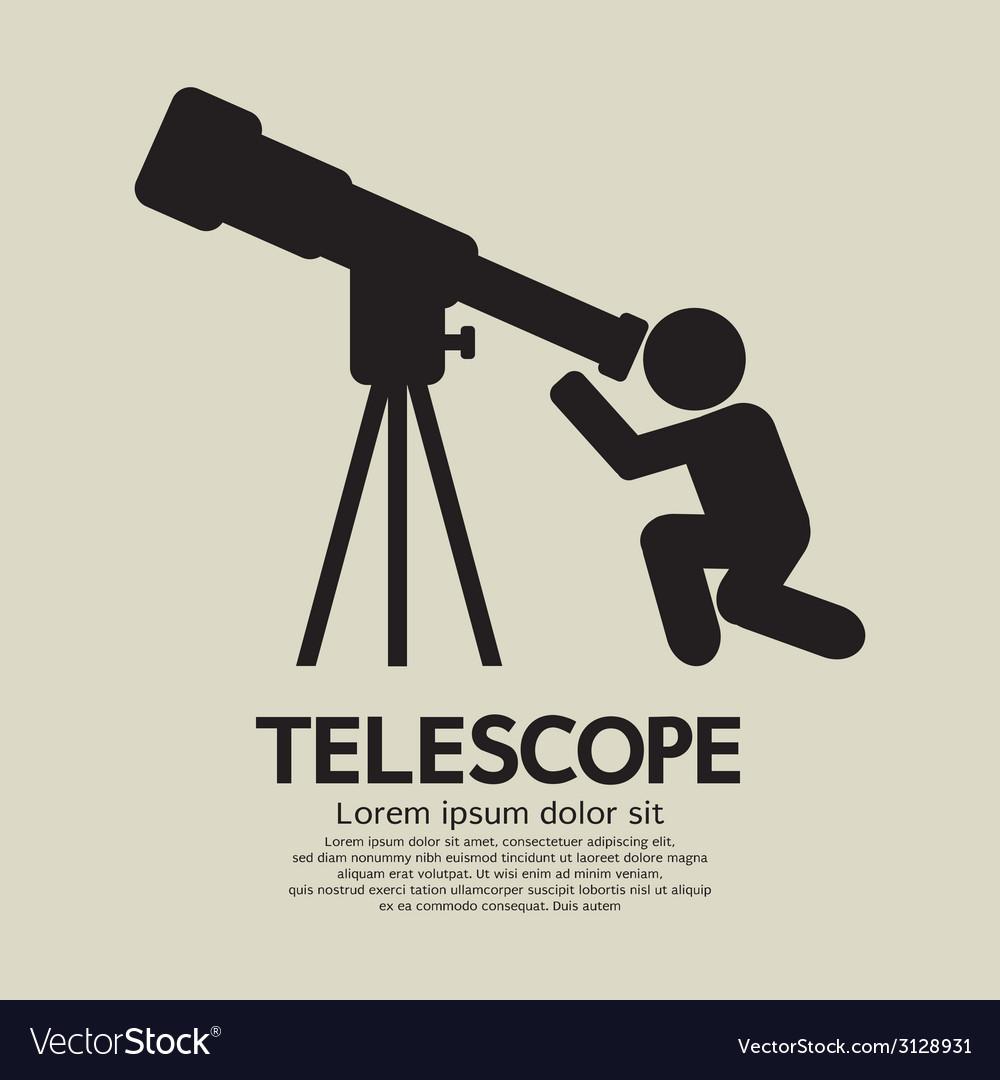 Telescope graphic symbol vector | Price: 1 Credit (USD $1)