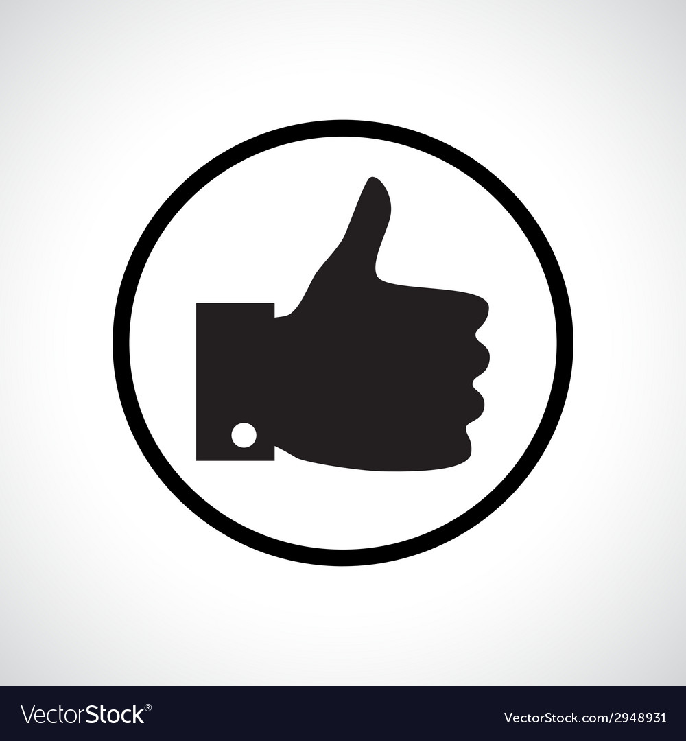 Thumb up icon vector | Price: 1 Credit (USD $1)