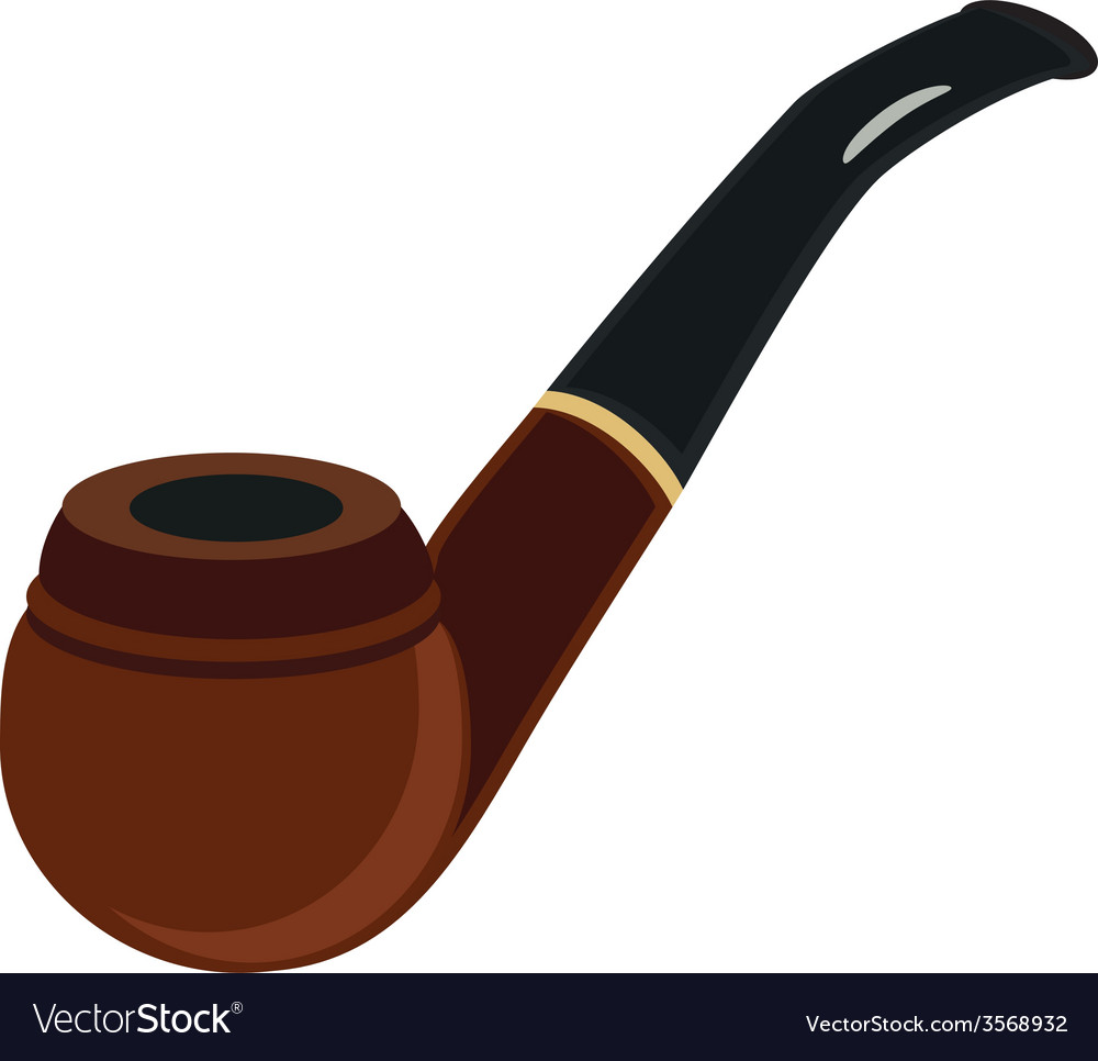 Brown smoking pipe vector | Price: 1 Credit (USD $1)