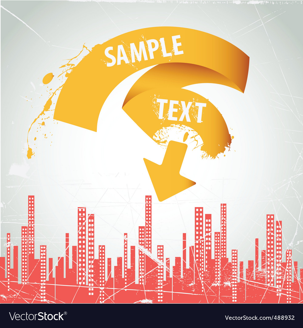 City ribbon frame vector | Price: 1 Credit (USD $1)
