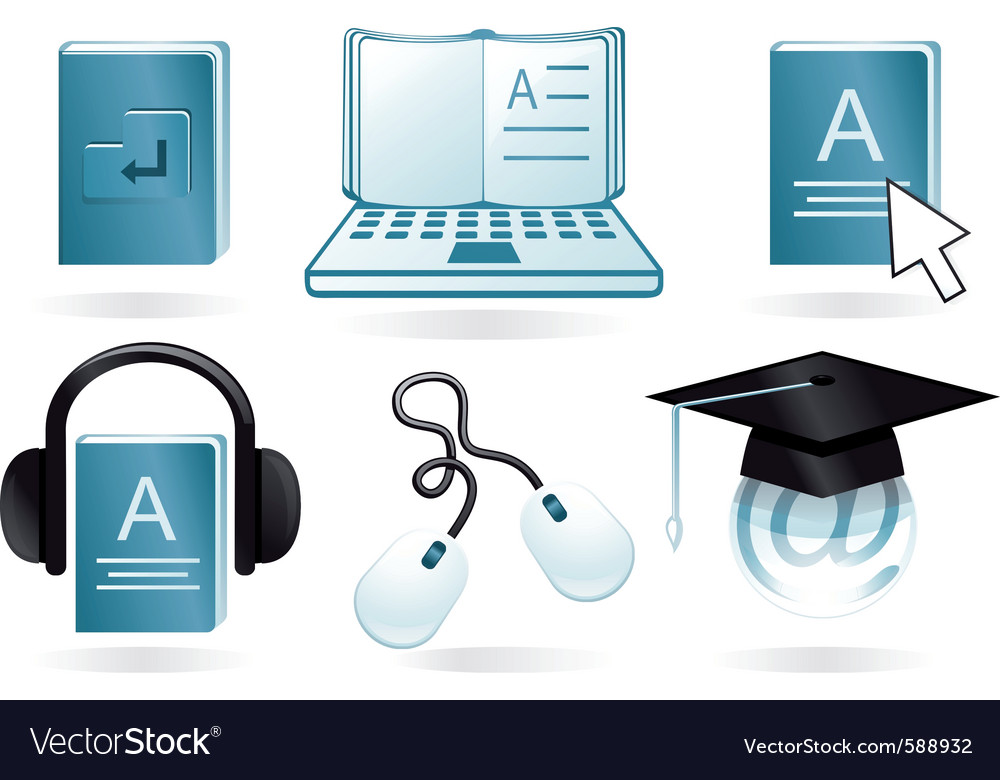 Digital learning vector | Price: 1 Credit (USD $1)