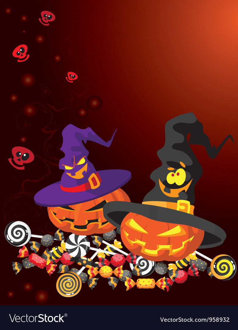 Halloween pumpkin card vector | Price: 3 Credit (USD $3)