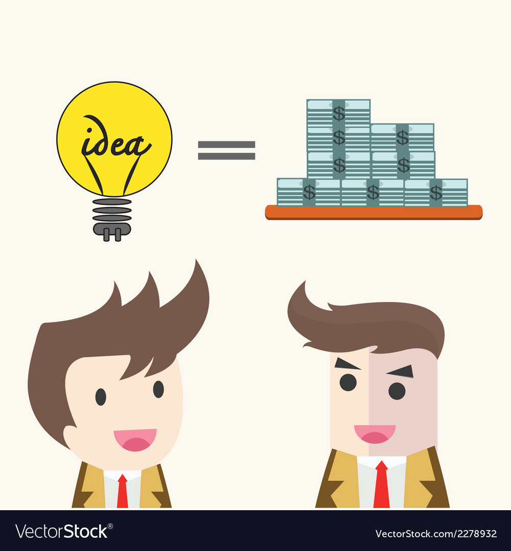 Idea change for money concept vector | Price: 1 Credit (USD $1)