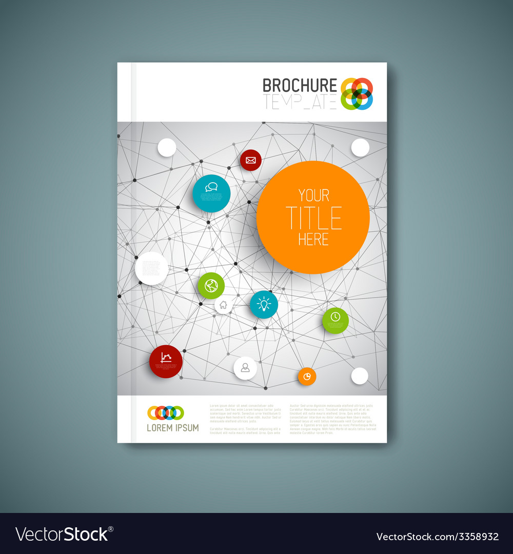 Modern abstract brochure report design template vector | Price: 1 Credit (USD $1)