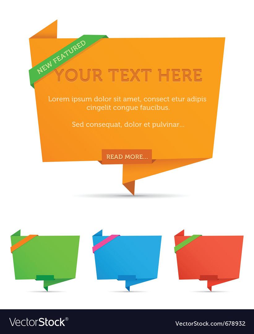 Origami web boxes vector | Price: 1 Credit (USD $1)