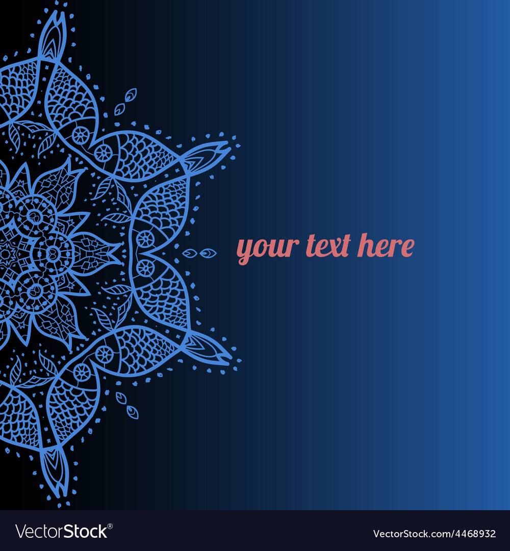 Ornate frame with sample text azure vector | Price: 1 Credit (USD $1)