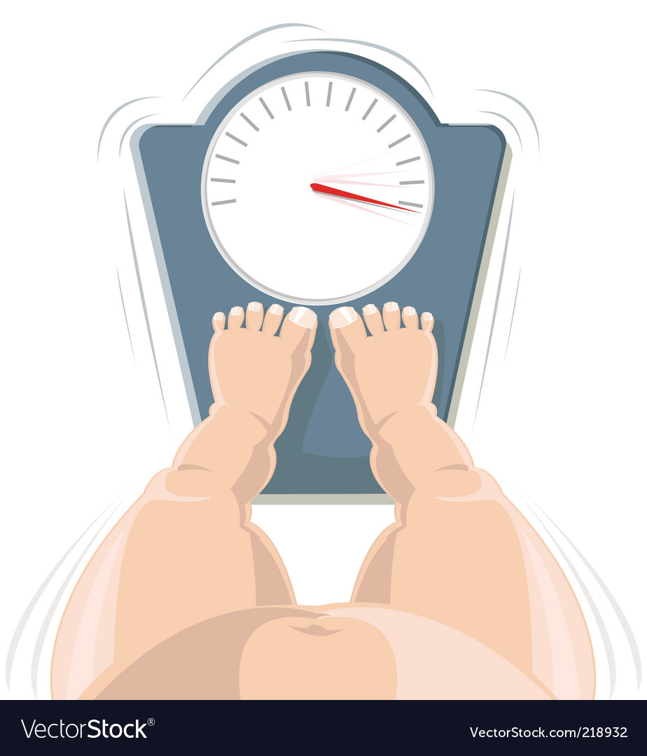 Overweight concept vector | Price: 1 Credit (USD $1)