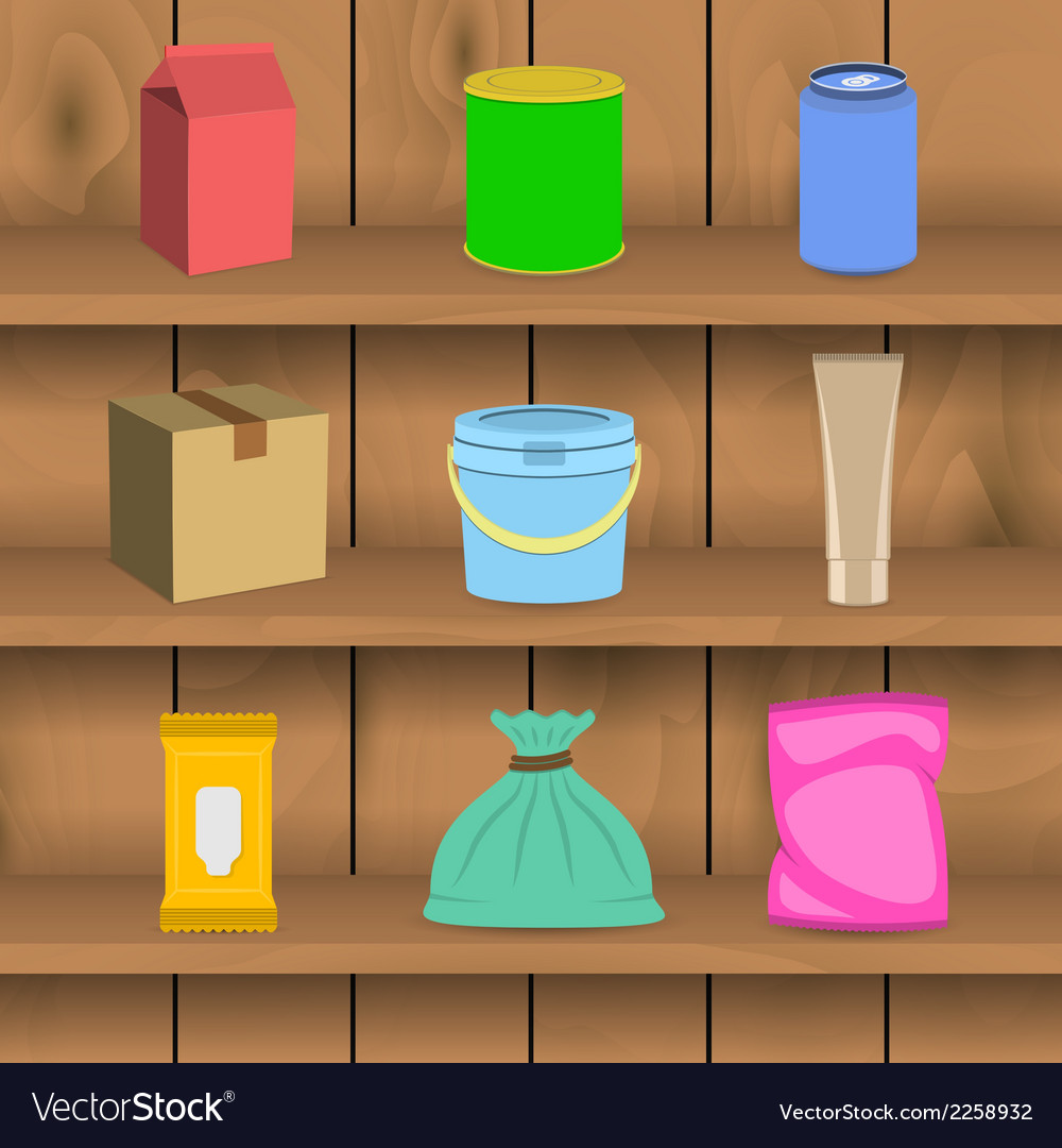 Pack container icon shelf vector   Price: 1 Credit (USD $1)
