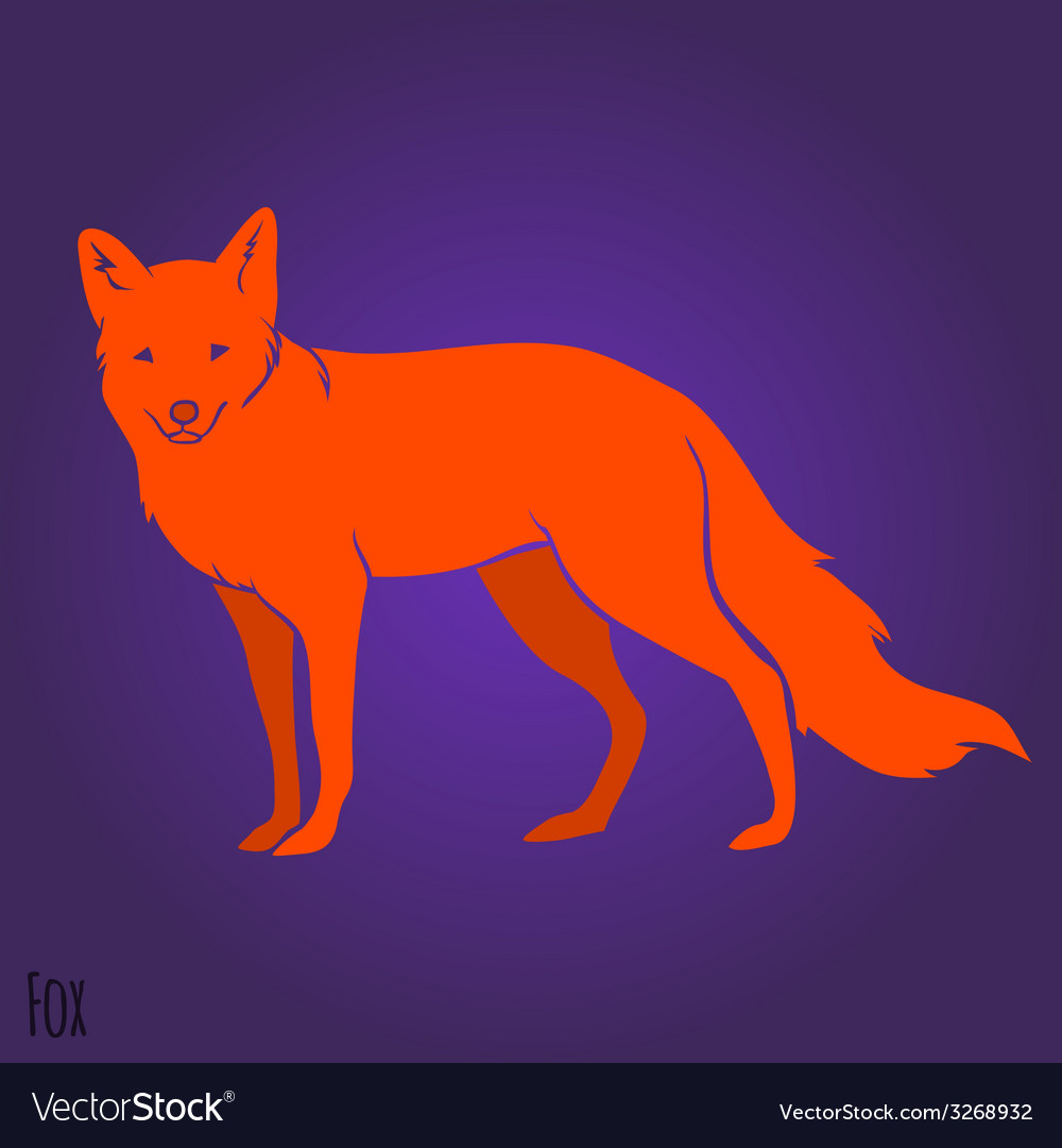 Red fox silhouette vector | Price: 1 Credit (USD $1)