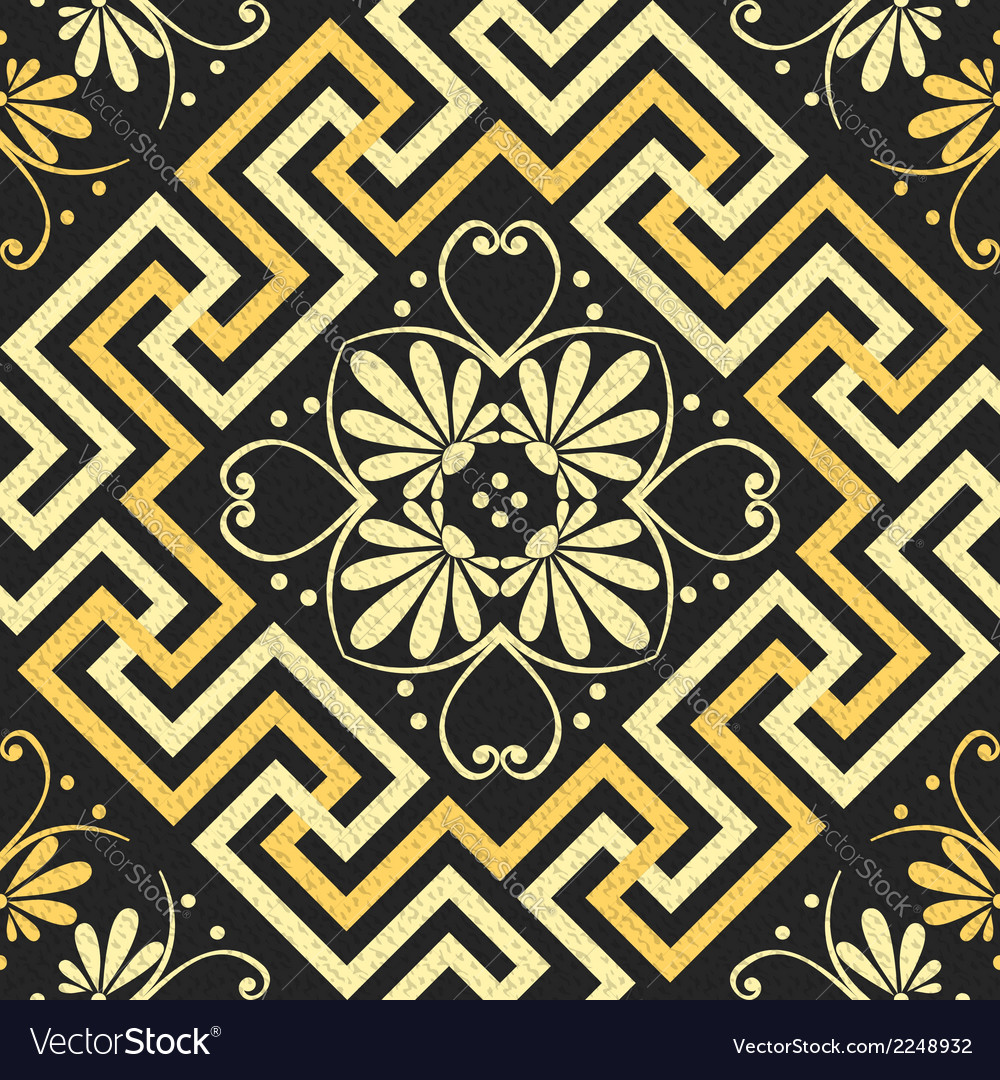 Seamless golden greek ornament vector | Price: 1 Credit (USD $1)