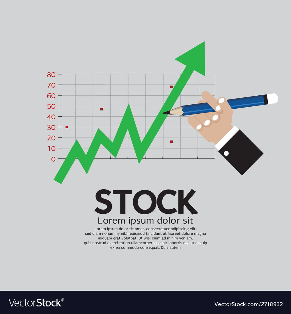 Stock shares rise vector | Price: 1 Credit (USD $1)