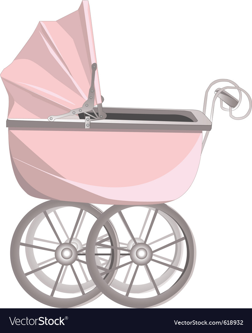 Vinateg baby stroller vector | Price: 1 Credit (USD $1)