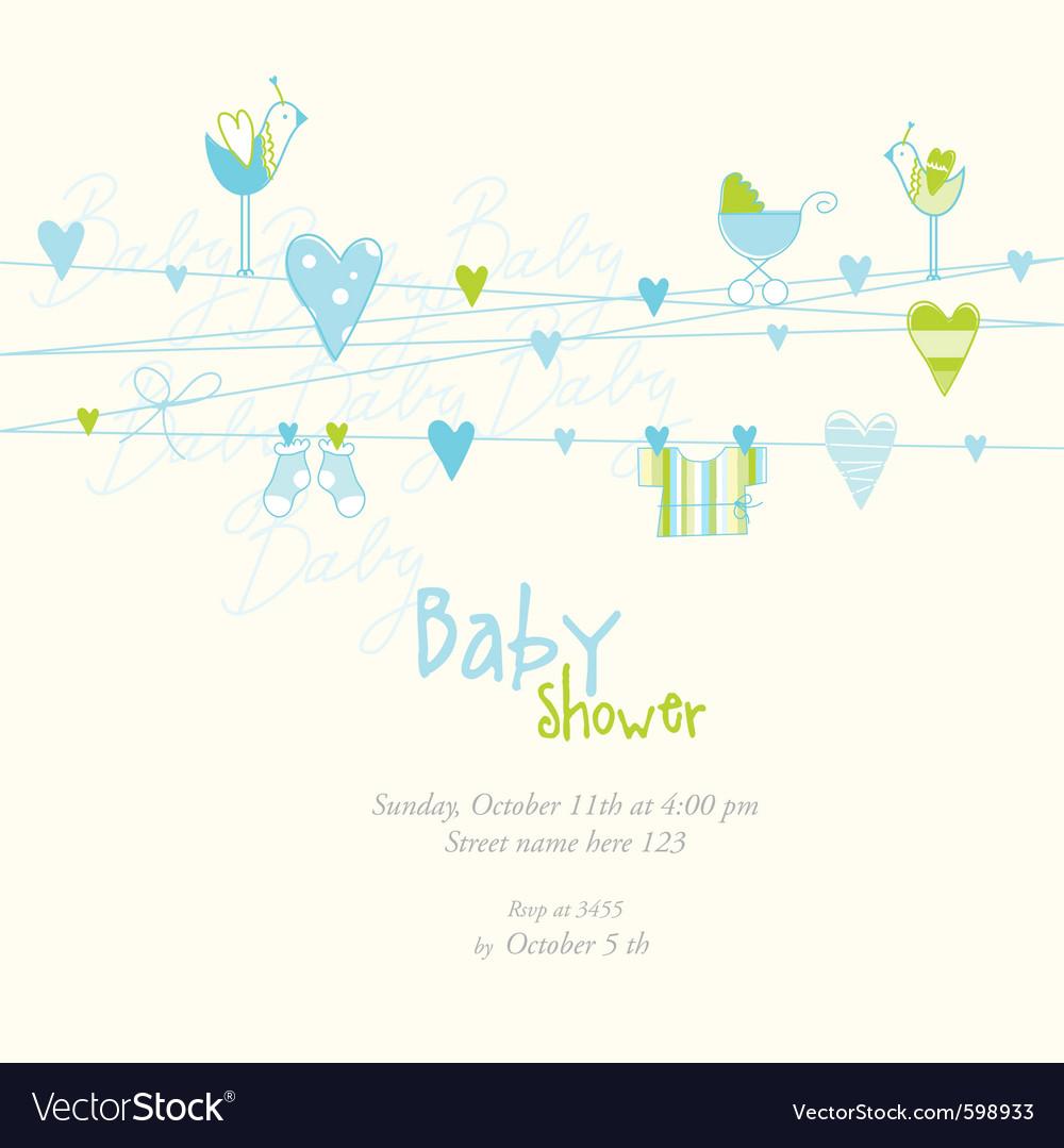 Baby boy arrival card vector   Price: 1 Credit (USD $1)