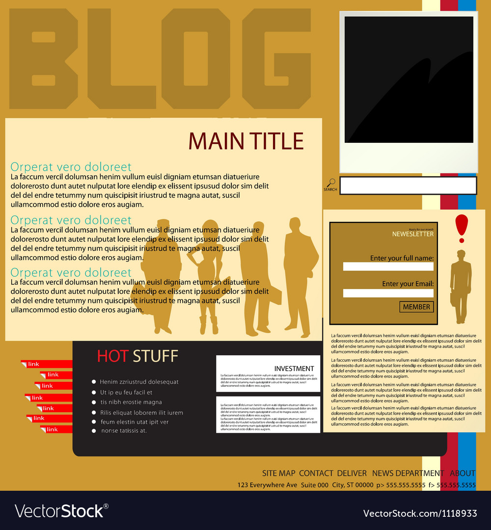 Blog interface vector | Price: 1 Credit (USD $1)