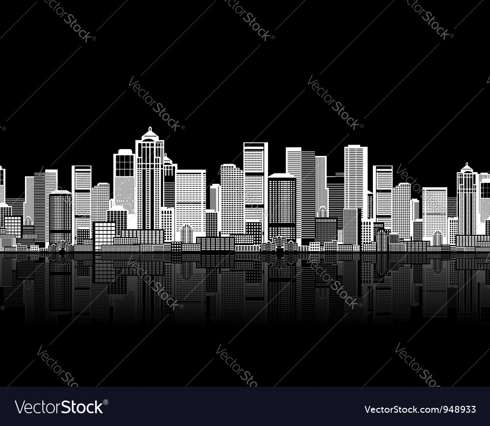 Cityscape seamless background vector | Price: 1 Credit (USD $1)