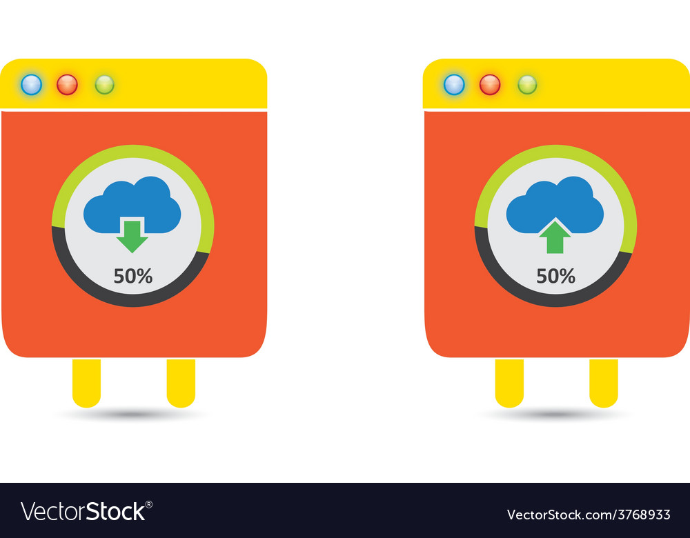 Cloud download and upload icon 22 vector | Price: 1 Credit (USD $1)