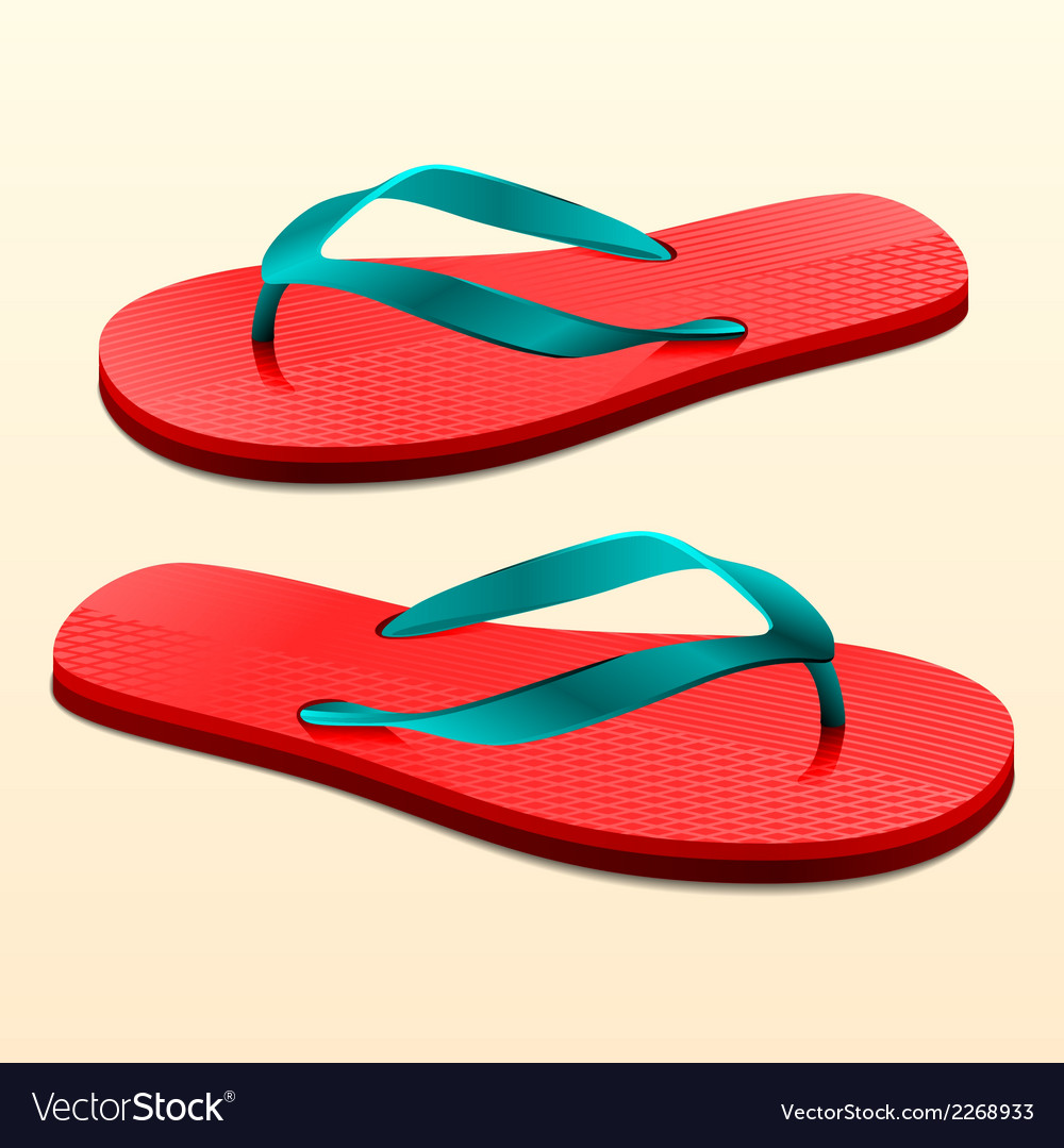 Flip flops vector | Price: 1 Credit (USD $1)