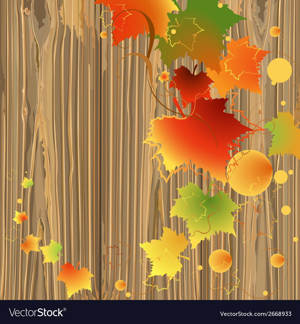 Foliage backdrop wood vector | Price: 1 Credit (USD $1)