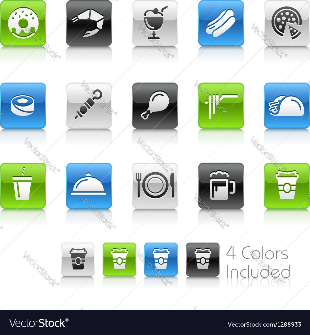 Food icons 2 clean series vector | Price: 1 Credit (USD $1)
