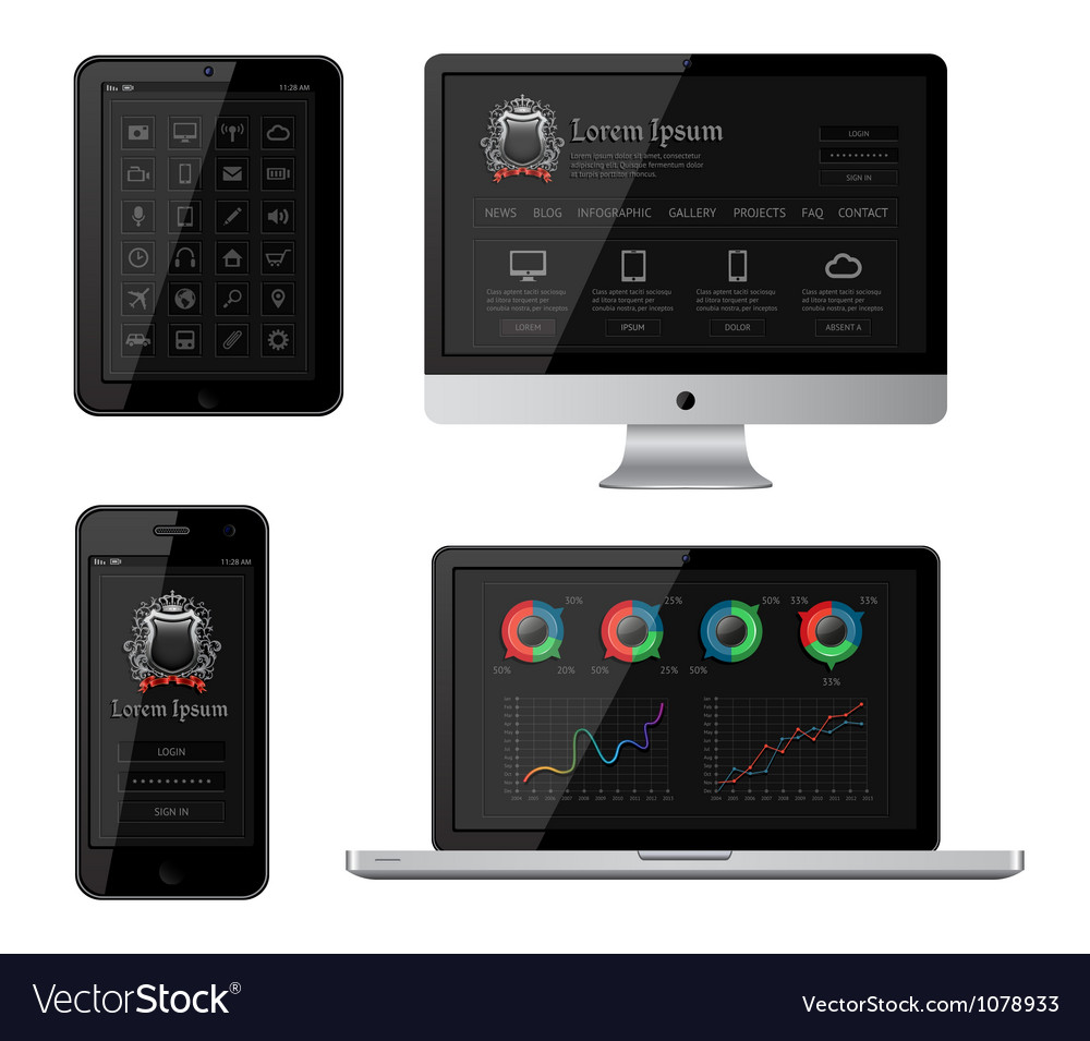 Isolated gadgets vector | Price: 3 Credit (USD $3)