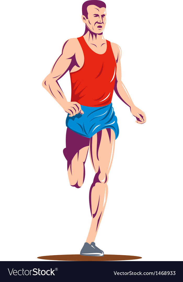 Marathon runner running race vector | Price: 1 Credit (USD $1)