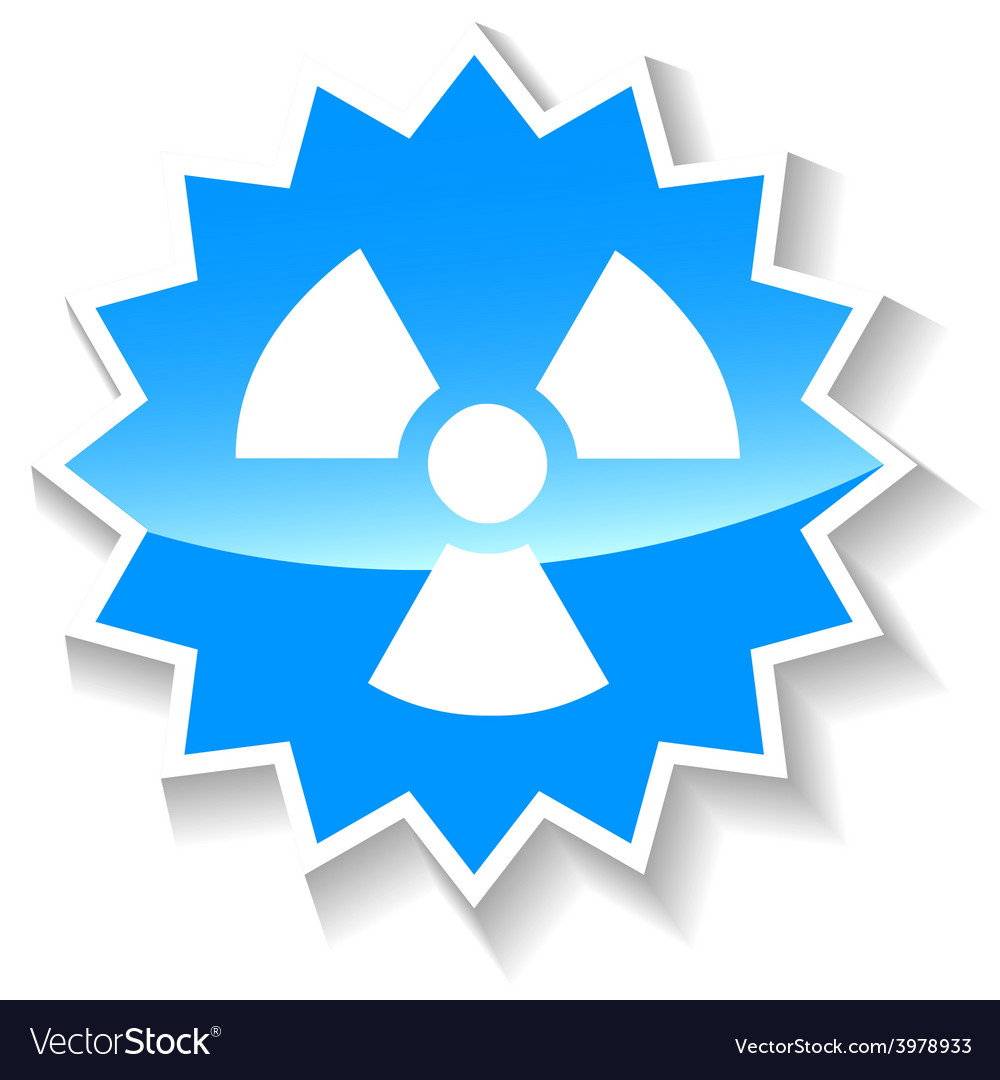 Nuclear blue icon vector | Price: 1 Credit (USD $1)