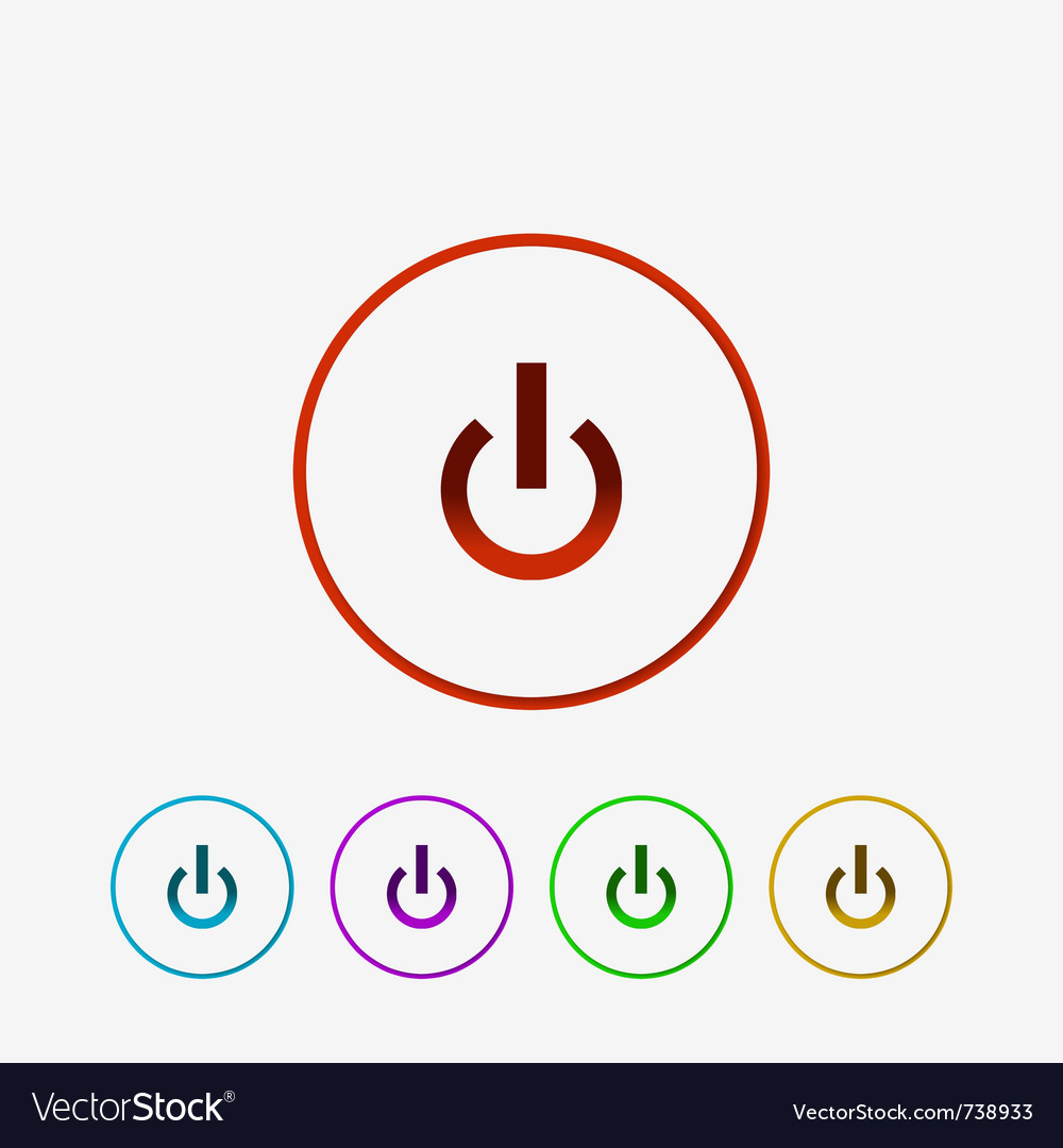 Power button vector | Price: 1 Credit (USD $1)