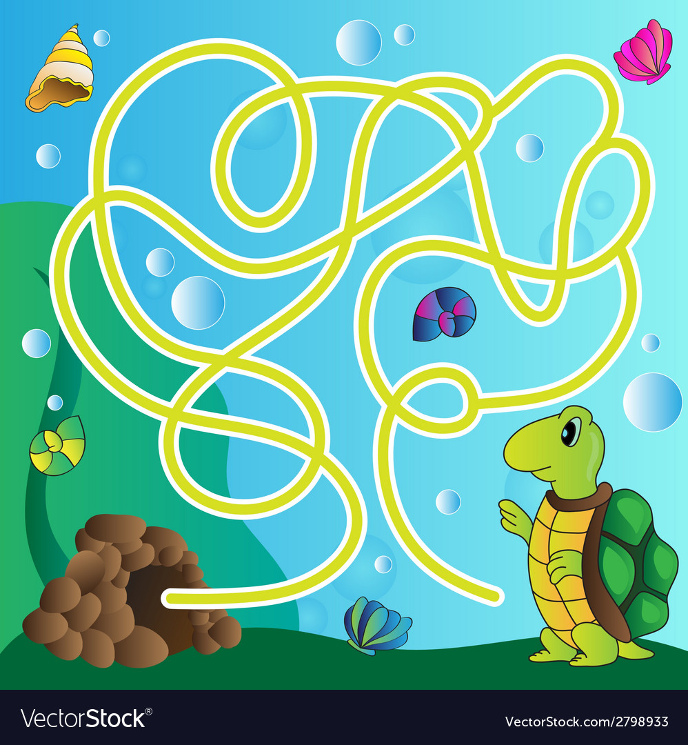 Puzzle for kids - marine life vector | Price: 1 Credit (USD $1)
