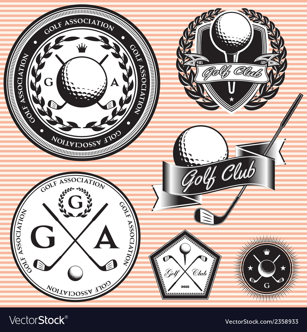 Set of emblems to topic golf game vector | Price: 1 Credit (USD $1)