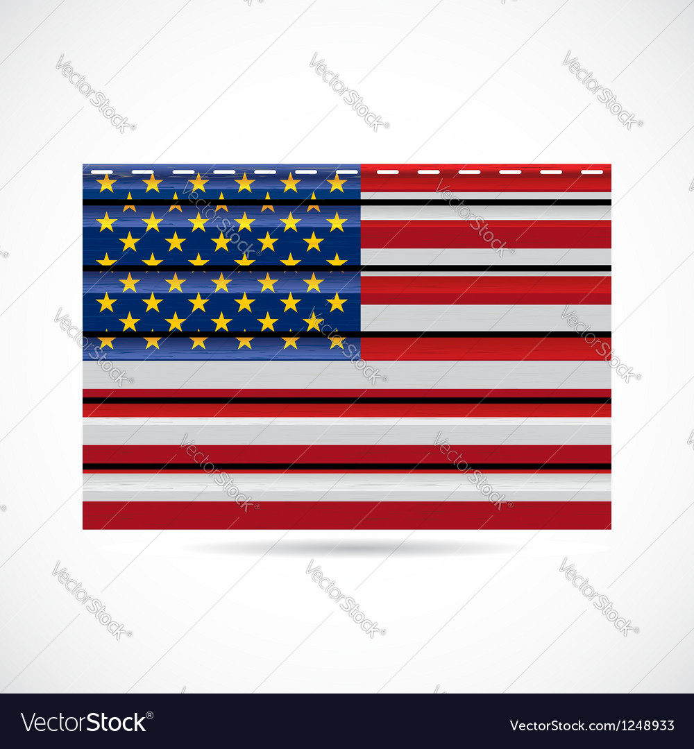 Usa siding produce company icon vector | Price: 1 Credit (USD $1)