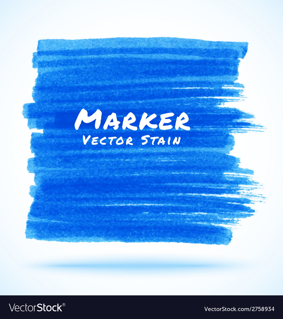 Blue marker stain vector | Price: 1 Credit (USD $1)