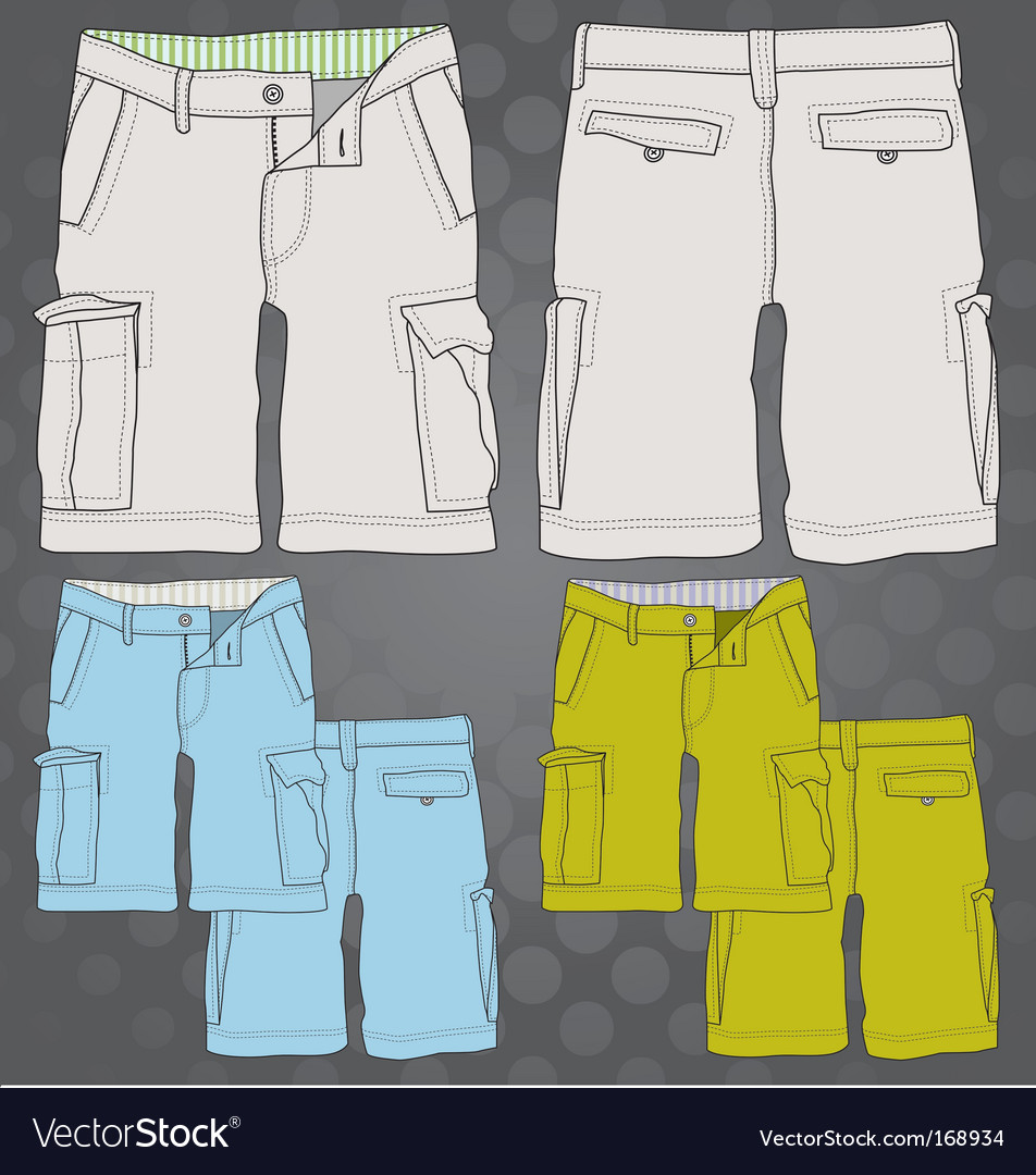 Cargo short vector | Price: 1 Credit (USD $1)
