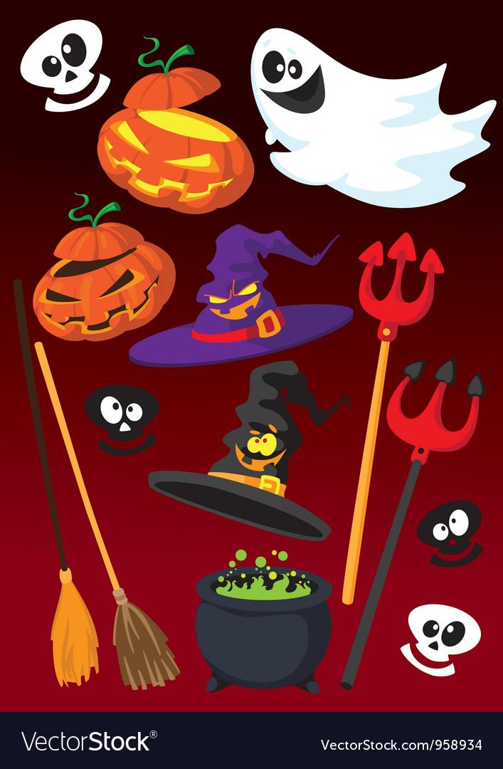Halloween set vector | Price: 3 Credit (USD $3)
