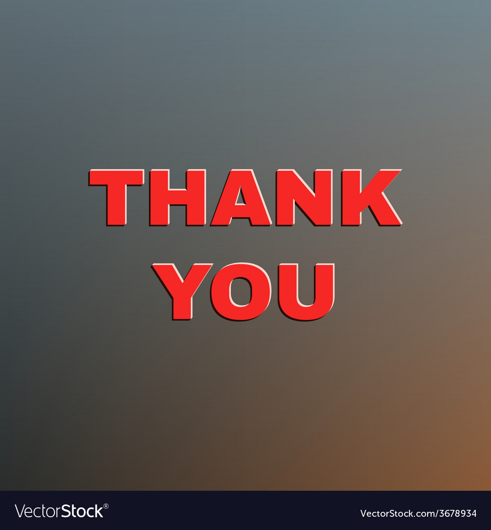 Thank you sign vector | Price: 1 Credit (USD $1)