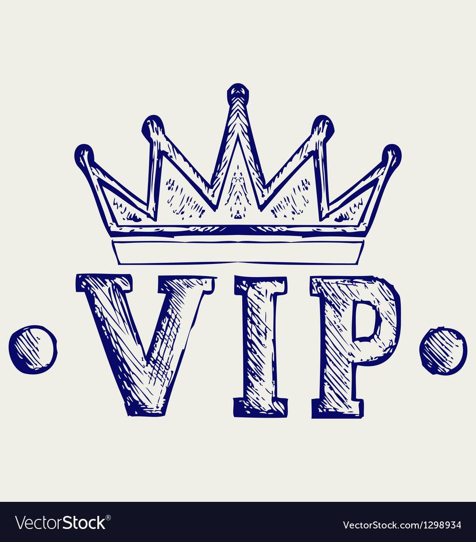 Vip crown symbol vector | Price: 1 Credit (USD $1)