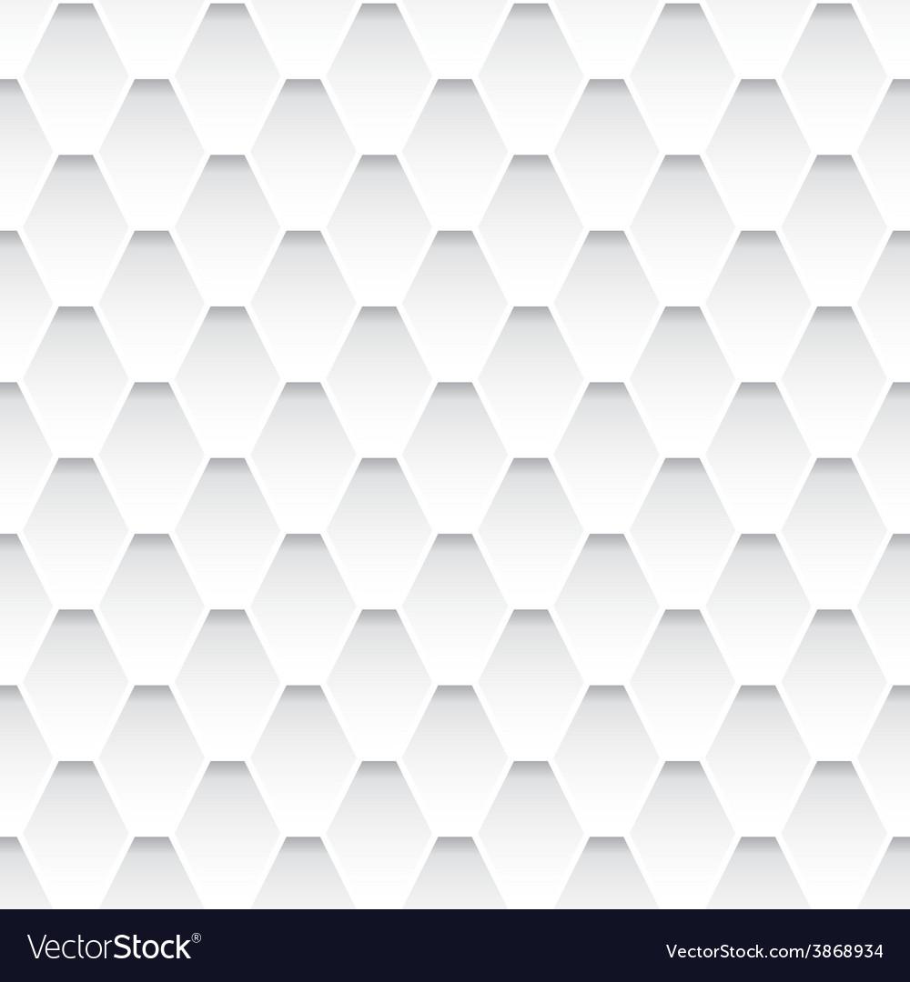 White seamless rhombus pattern vector | Price: 1 Credit (USD $1)